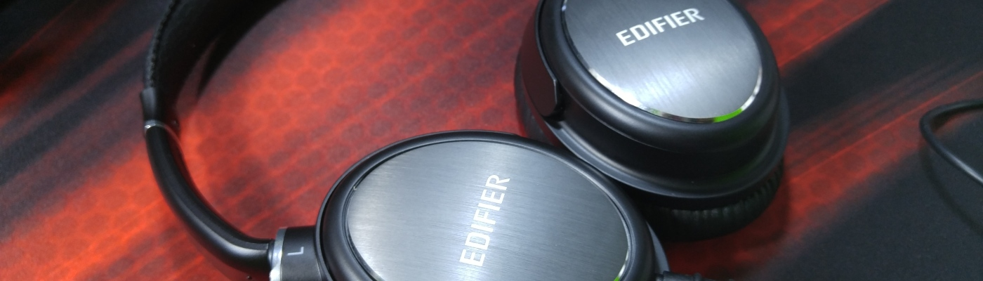 edifier h850 over the ear headphones hifi detachable cable top view
