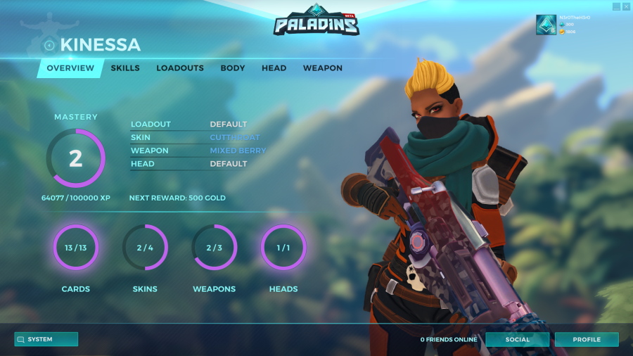 Paladins Champions of The Realm Kinessa