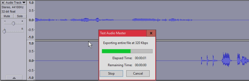 Youre done you can also export a master file with both audio tracks embeded and synced up by deleting the duplicate channel and going to file export in the menu just make sure to move the audio balance back to the center or you.png